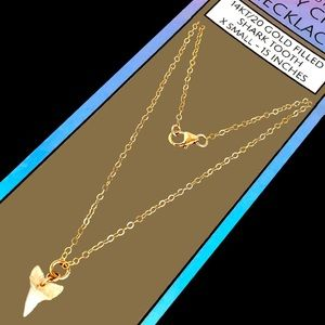 Island Sunset Artisan Shark Tooth Necklace 14KT/20